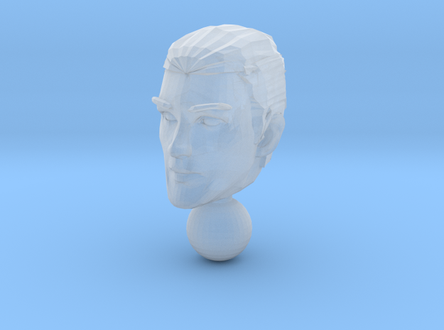 micro head 1 in Smooth Fine Detail Plastic