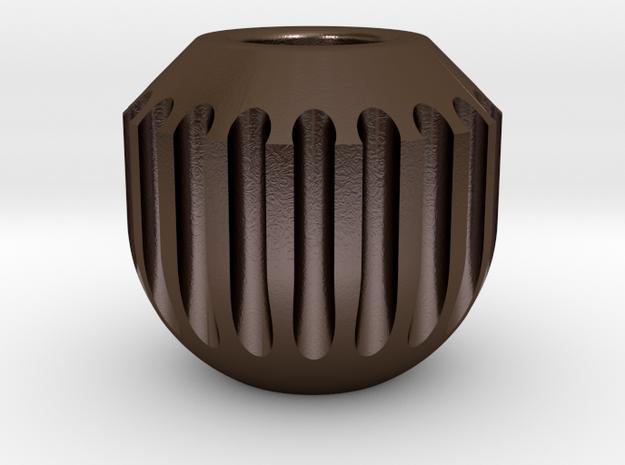 Bead1 in Polished Bronze Steel