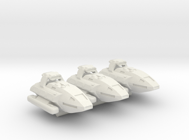 1/1000 Scale Montgomery NX-1 Prototypes X3 in White Natural Versatile Plastic