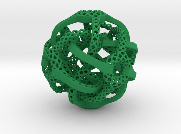Cubic Octahedral Symmetry Perforation  Type 2 in Green Processed Versatile Plastic