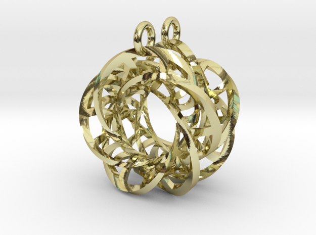 5,4 Torus Knot Ladder Earrings in 18k Gold Plated Brass