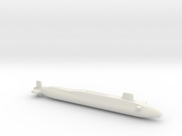 Vanguard-class SSBN, Full Hull, 1/2400 in White Natural Versatile Plastic