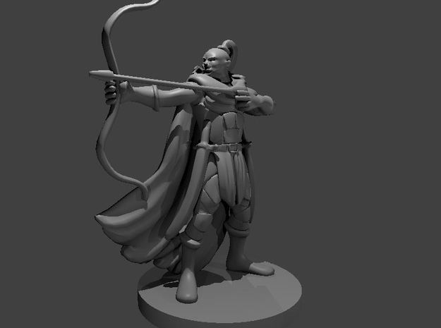 Orc Archer in Smooth Fine Detail Plastic