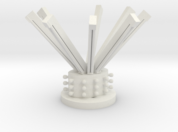 center and florescent tubes in White Natural Versatile Plastic