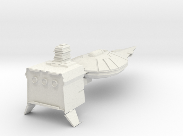 Modular Taskforce cruiser Armada Scale in White Natural Versatile Plastic