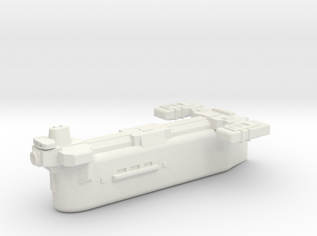 Omni Scale Klingon Small Auxiliary Carrier SRZ in White Natural Versatile Plastic