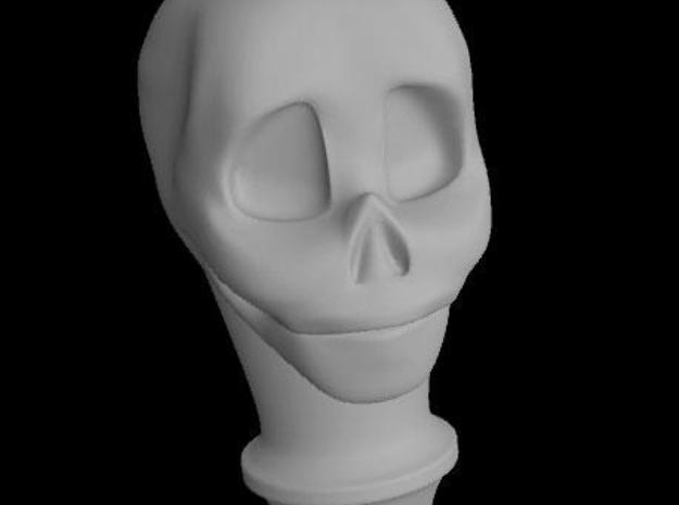 BJD, MSD Skull cane top in White Natural Versatile Plastic