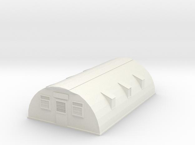 Wood Barrack in White Natural Versatile Plastic