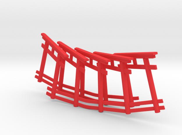 repetitive torii gate necklace