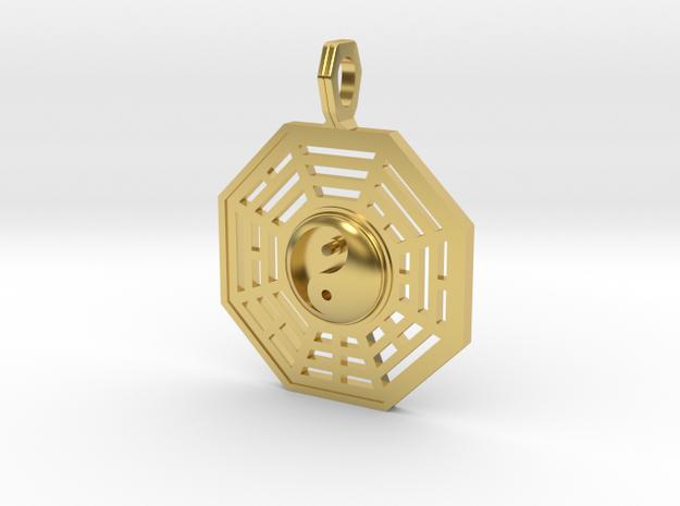 Bagua symbol 3D in Polished Brass