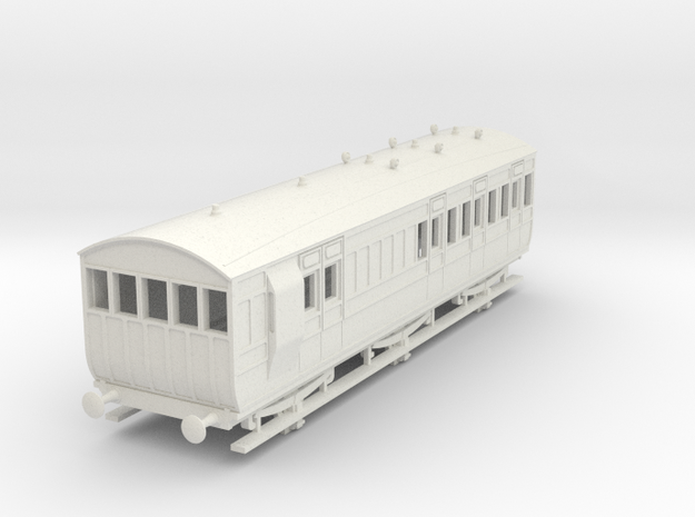 o-87-ger-d533-6w-brake-3rd-coach in White Natural Versatile Plastic