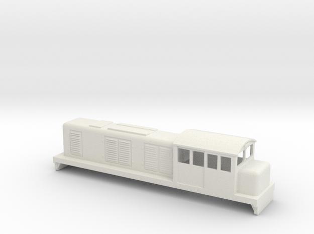 RH&DR / TMA bogie diesel in White Natural Versatile Plastic