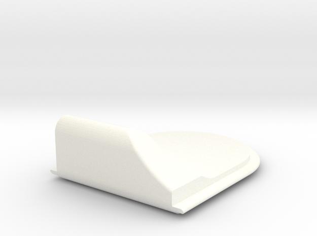 Lancia Delta Ashtray Lid plate in White Processed Versatile Plastic