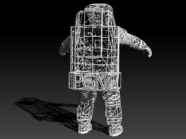 Astronaute WireFrame - PGM - 210mm 3d printed