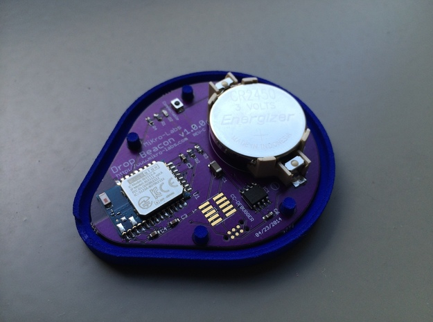 DropBeacon-Base-With-Snap-Mechanism-20140221 3d printed
