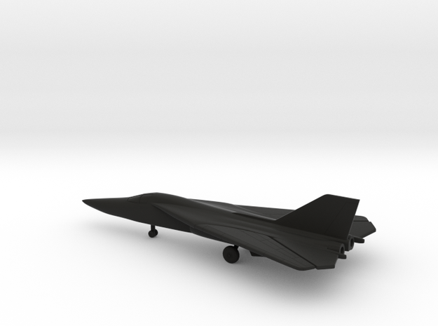 General Dynamics F-111A Aardvark (swept wings) in Black Natural Versatile Plastic: 6mm