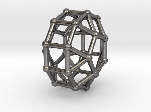 0828 J38 Elongated Pentagonal Orthobicupola #2 in Polished Nickel Steel