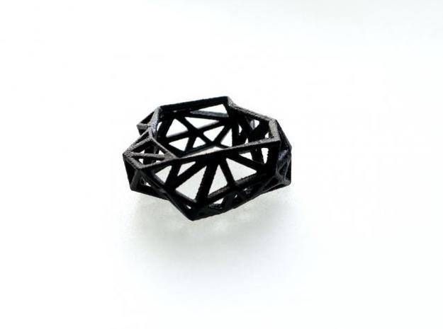 Triangulated Ring     in Black Strong & Flexible: 7 / 54