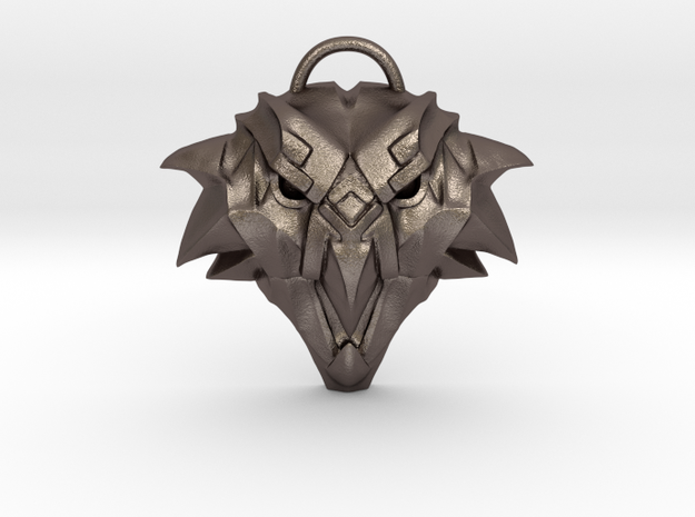 The Witcher: Griffin school medallion (metal) in Polished Bronzed-Silver Steel