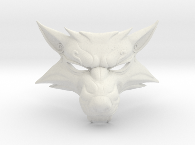 The Witcher 3: fox mask in White Natural Versatile Plastic