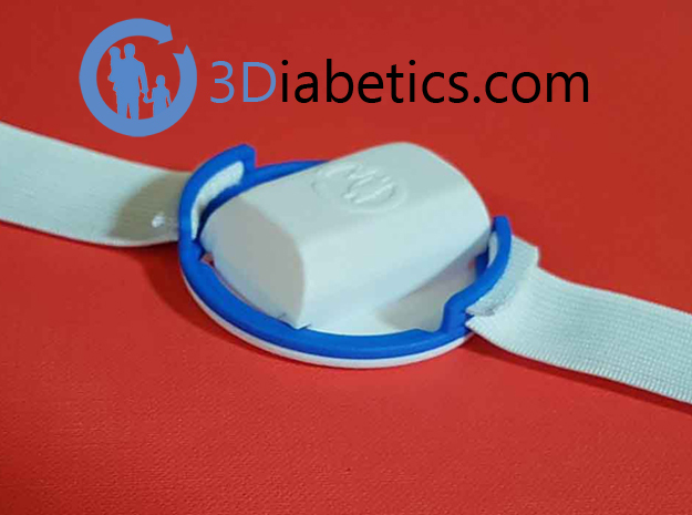 3Dex – Armband for Dexcom - No More Compressions in Blue Processed Versatile Plastic