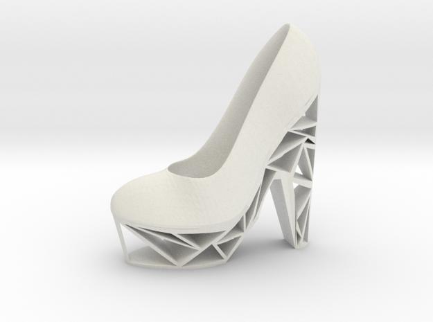 Left Triangle Heel in White Natural Versatile Plastic