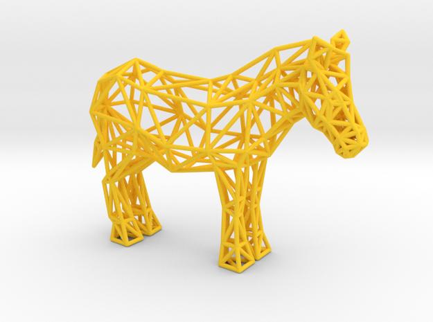 Common Zebra (adult) in Yellow Processed Versatile Plastic