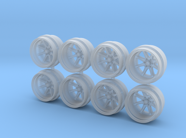 FF09 11mm Offroad Truck SUV Hot Wheels Rims in Smoothest Fine Detail Plastic
