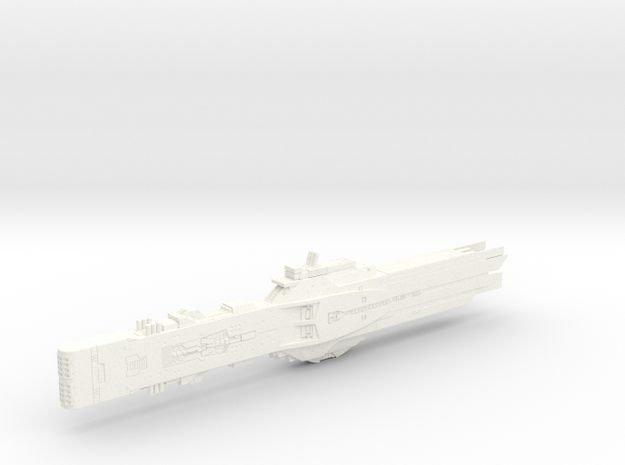 LoGH Alliance Flagship Hyperion 1:8000 in White Processed Versatile Plastic