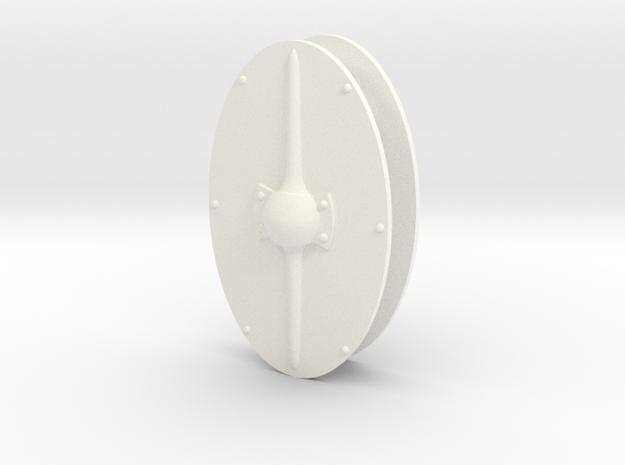 GAUL SHIELD #1 X2 in White Processed Versatile Plastic