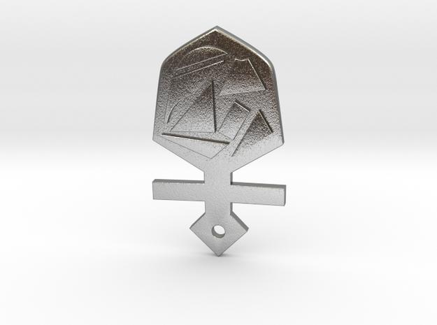 Tardis key in Natural Silver