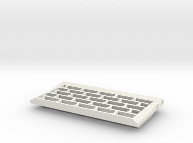 Tiger I, Abluftgitter, mitte+spät, links, 1:10 in White Natural Versatile Plastic