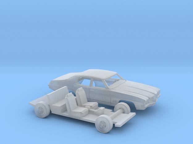 1/87 1968-72 Pontiac Le Mans Sedan Kit in Smooth Fine Detail Plastic