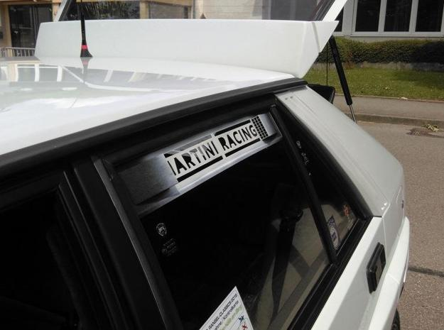 "Lancia Delta 1 ""Martini Racing"" window Shield 2 in White Natural Versatile Plastic"