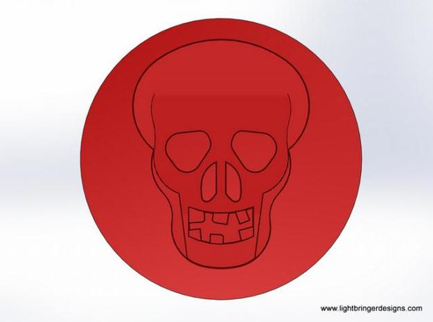 Skull Wax Seal 3d printed What the wax will look like