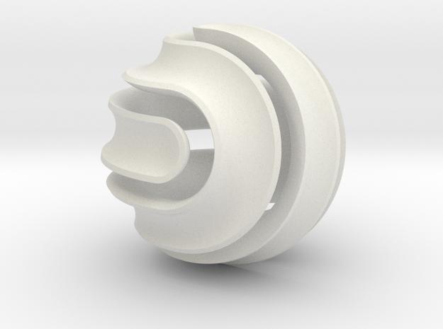 Nonasphericon Groove in White Natural Versatile Plastic