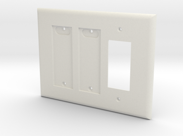 Philips Hue Double Dimmer Plate 3 Gang Decora in White Natural Versatile Plastic