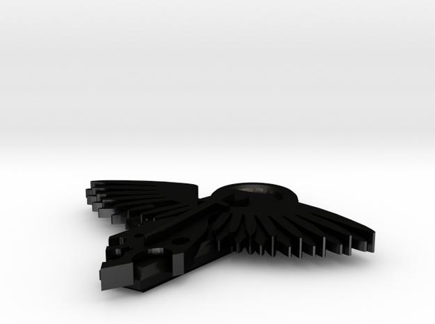 Winged Death in Matte Black Steel