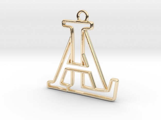 Monogram with initials A&L in 14k Gold Plated Brass