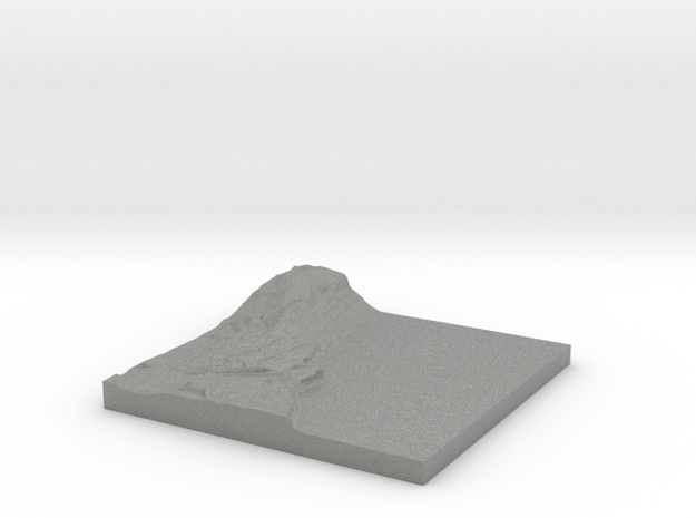 "Piermont Topo Map 2x: 6""x6"" in Gray Professional Plastic"