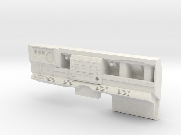 Defender D90 Dash Left Side Drive Highly detailed  in White Natural Versatile Plastic