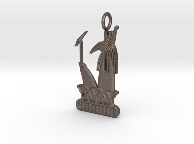 Ash amulet in Polished Bronzed-Silver Steel