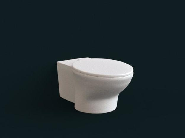 1:39 Scale Model - Flush Toilet 02 in White Natural Versatile Plastic