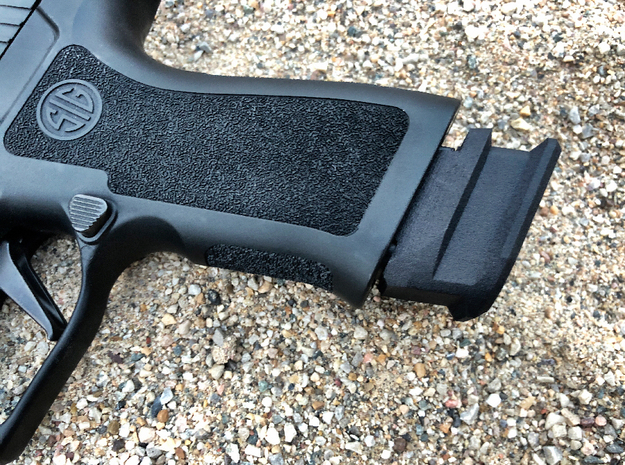 SIG P320 Extended X Frame Base Pad - Round in Black Natural Versatile Plastic