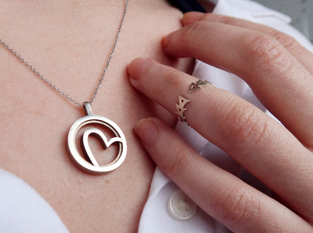 Heart  in Polished Silver: Small