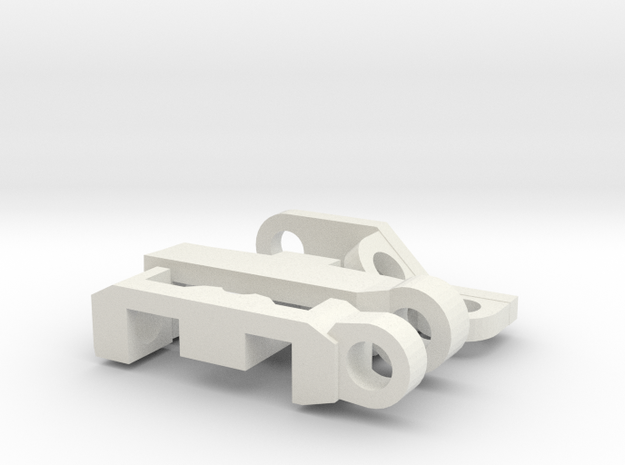 PrimeMasterBackPackWave3 in White Natural Versatile Plastic