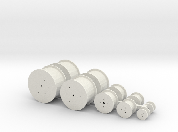HO Scale Cable Reels Assorted