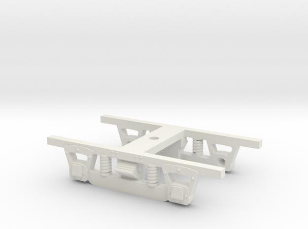 HO Scale 4 Wheel Passenger Truck, VRR, V1.0 in White Natural Versatile Plastic