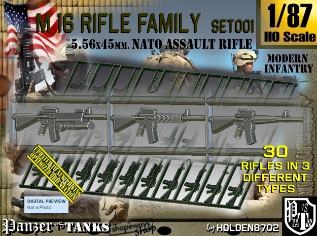 1/87 M16 Rifle Family Set001