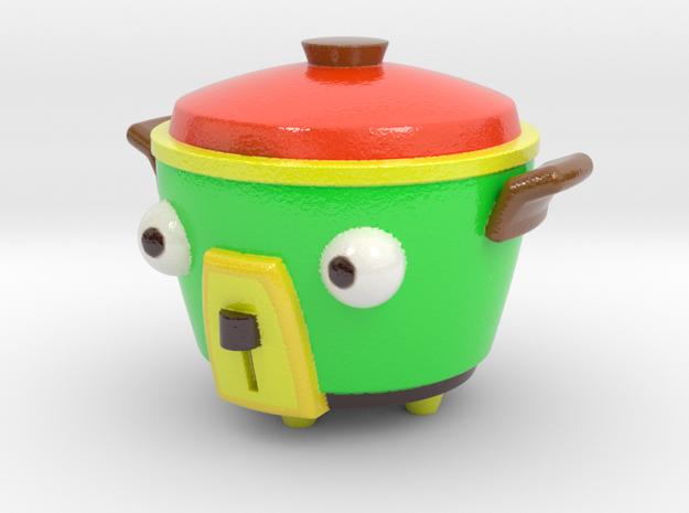 Bear pot in Glossy Full Color Sandstone
